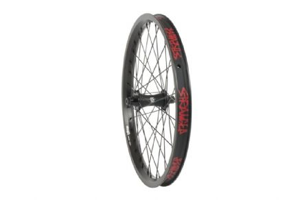 "Stranger Crux Front Wheel - Black Hub With Black Rim 10mm (3/8"")"